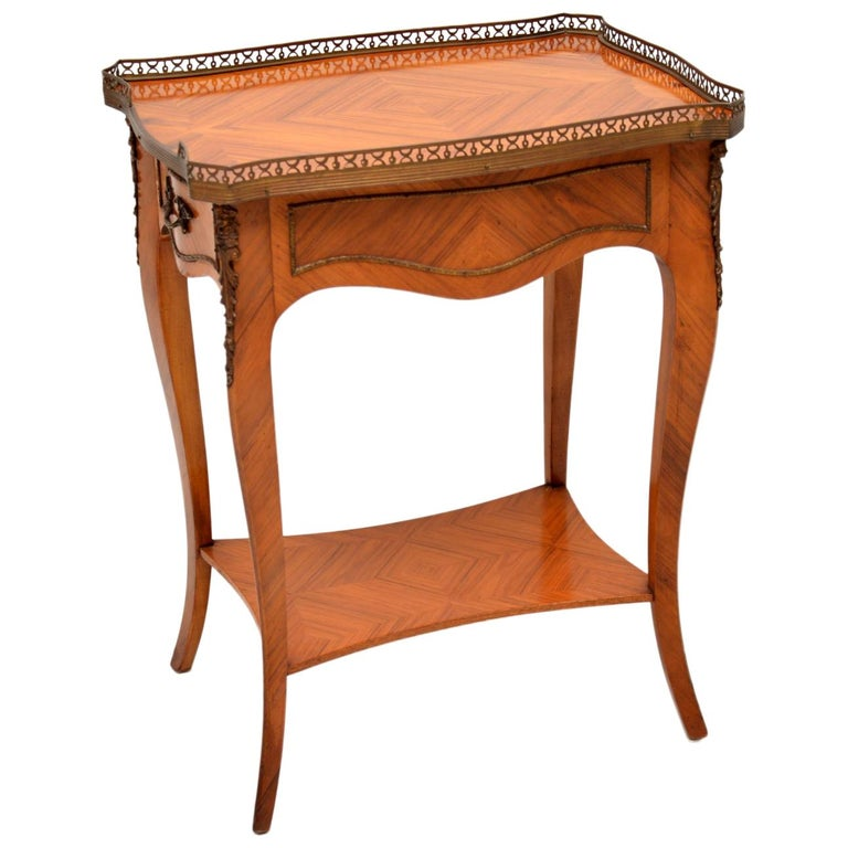 Antique French King Wood Side Table For Sale