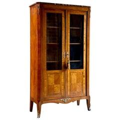 Antique French Kingwood Bookcase Vitrine, circa 1870
