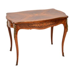 Antique French Kingwood Bureau Plat Desk