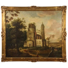 Antique French Landscape Painting from the 18th Century