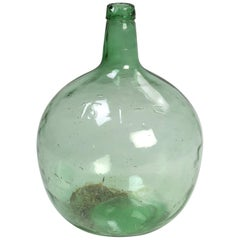Antique French Large Glass Demijohn, circa 1900