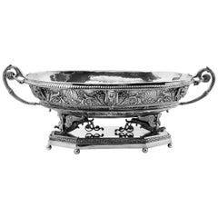 French Large Silver Jardinière Centrepiece Bowl circa 1890 1st Grade Silver