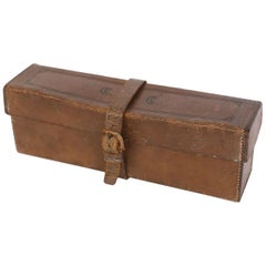 Antique French Leather Box