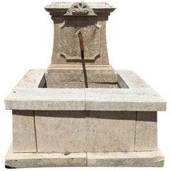 Antique French Limestone Fountain, circa 1820s