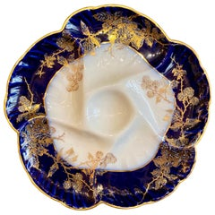 """Antique French Limoges Porcelain Oyster Plate """"Charles Fields Co Haviland"""""""