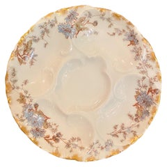 "Antique French Limoges Porcelain Oyster Plate Signed ""Haviland & Co."" circa 1910"