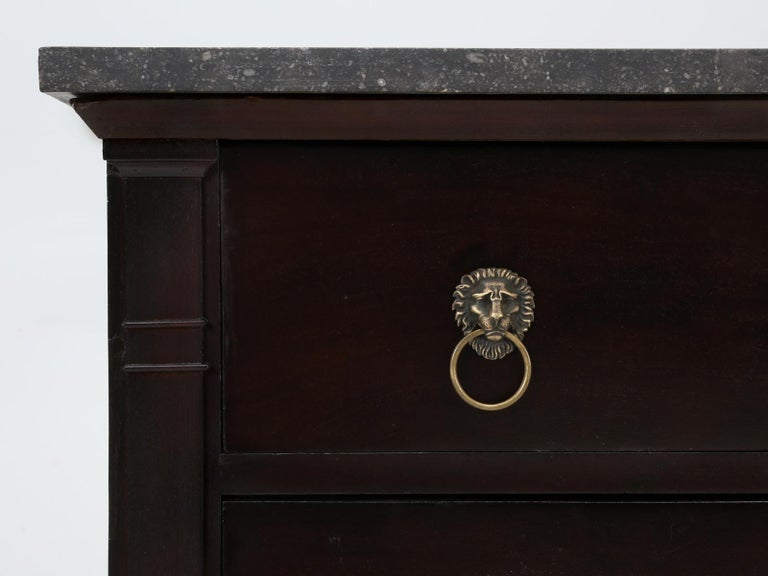 Antique French Lion Paw Footed Mahogany Empire Style Commode, Restored For Sale 7