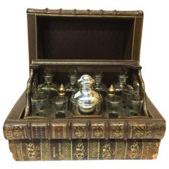 Antique French Liquor Cellar in 18th Century Books