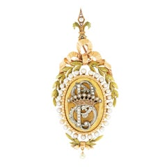 Antique French Locket with Royal Insignia