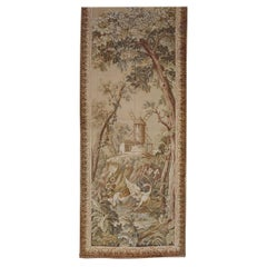 Antique French Loomed Tapestry, Holland Scene, Windmill, Neutral, Wool, 1920