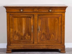 Antique French Louis Philippe Cherrywood Credenza Buffet circa 1850