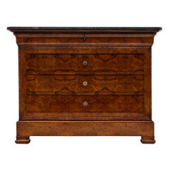 Antique French Louis Philippe Chest with Marble Top