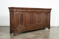Antique French Louis Philippe Enfilade Buffet with Book Matched Front