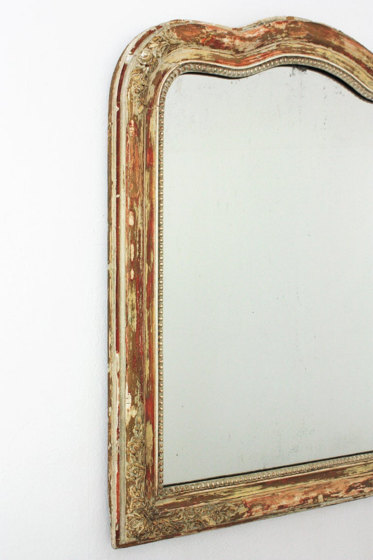 Antique French Louis Philippe Mirror In Good Condition For Sale In Barcelona, ES