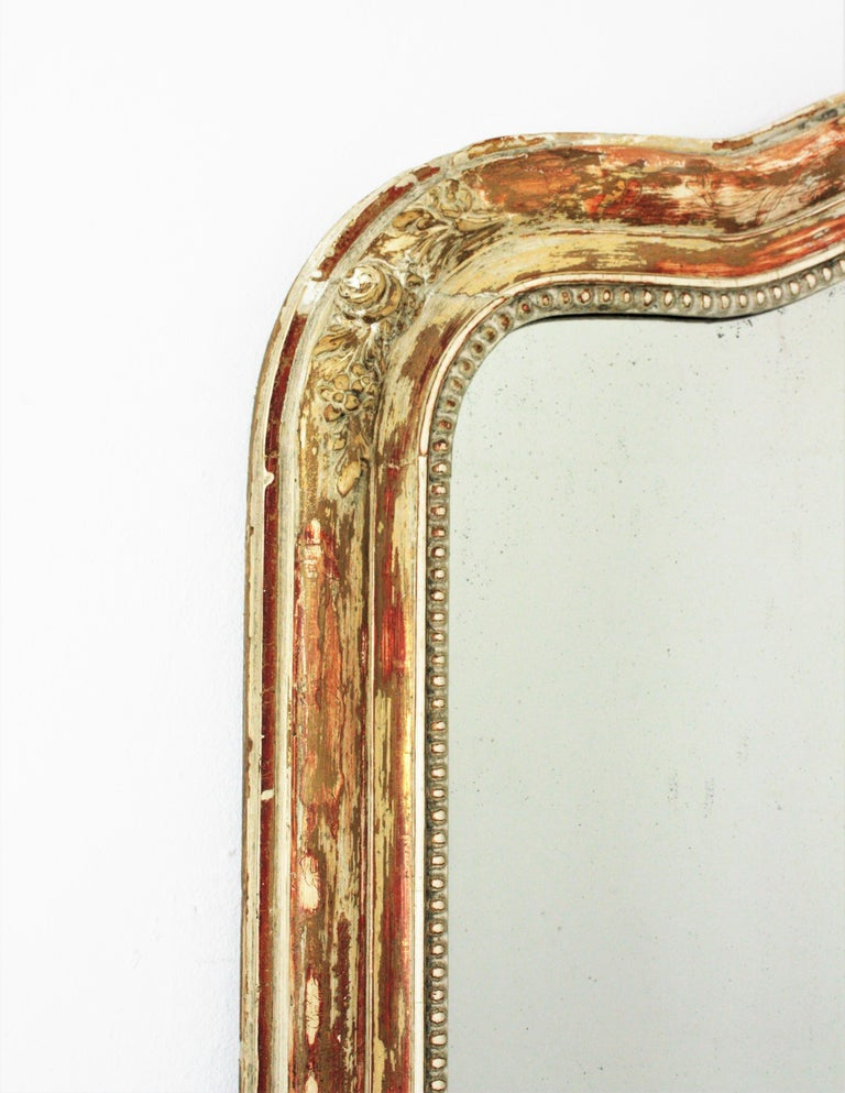 19th Century Antique French Louis Philippe Mirror For Sale