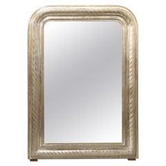 Antique French Louis Philippe Silverleaf Mirror