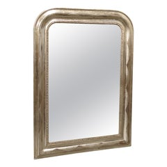 Antique French Louis Philippe Silverleaf Mirror
