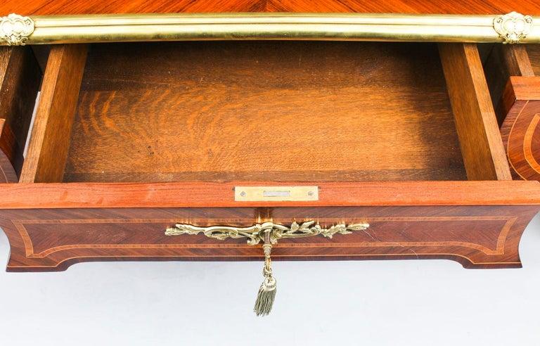 Antique French Louis Revival Kingwood & Ormolu Bureau Plat Desk 19th Century For Sale 8