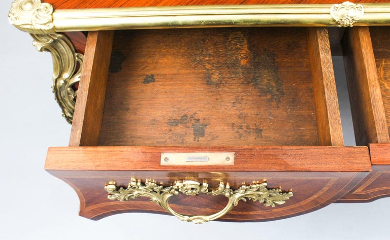 Antique French Louis Revival Kingwood & Ormolu Bureau Plat Desk 19th Century For Sale 9