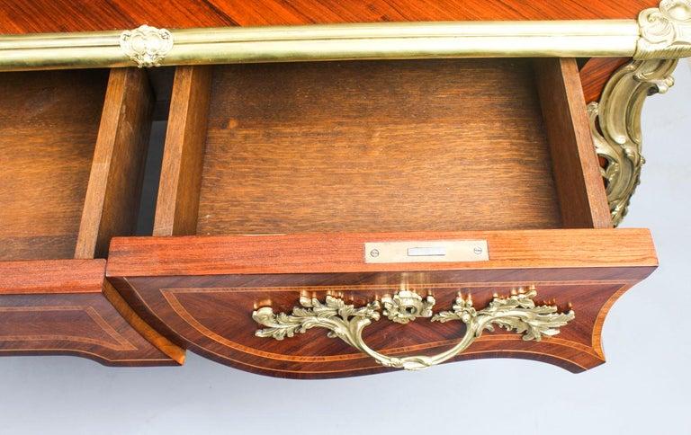 Antique French Louis Revival Kingwood & Ormolu Bureau Plat Desk 19th Century For Sale 10