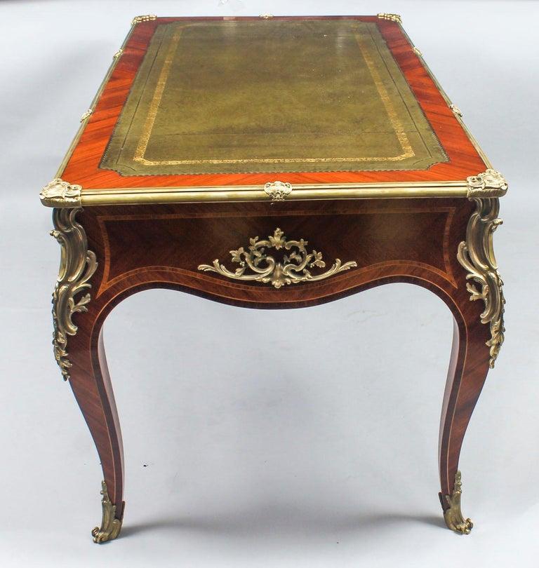 Antique French Louis Revival Kingwood & Ormolu Bureau Plat Desk 19th Century For Sale 14