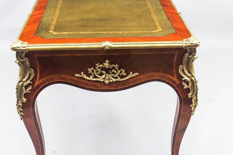 Antique French Louis Revival Kingwood & Ormolu Bureau Plat Desk 19th Century For Sale 15