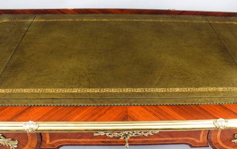 Antique French Louis Revival Kingwood & Ormolu Bureau Plat Desk 19th Century For Sale 1