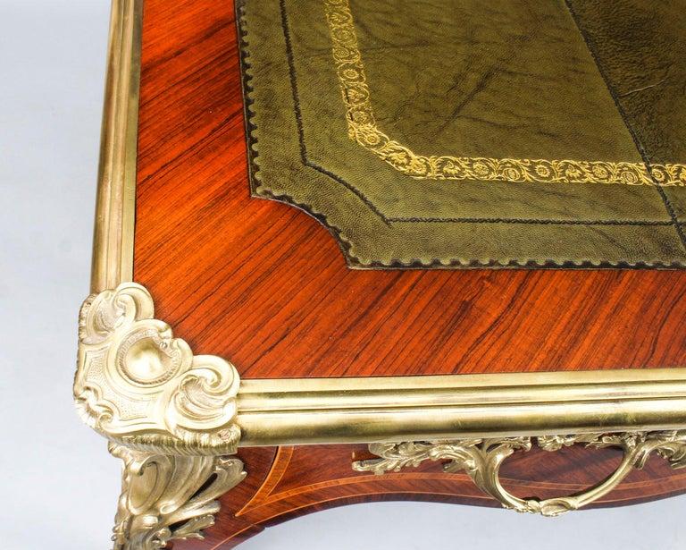Antique French Louis Revival Kingwood & Ormolu Bureau Plat Desk 19th Century For Sale 3