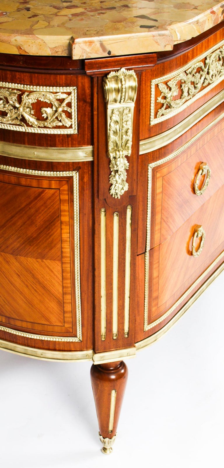 Antique French Louis Revival Ormolu Mounted Commode Chest, 19th C 6