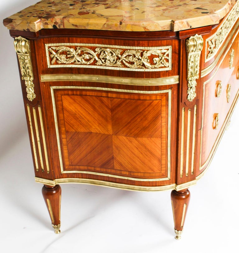 Antique French Louis Revival Ormolu Mounted Commode Chest, 19th C 7