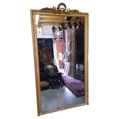 Antique French Louis Seize Style Mercury Mirror from the Mid-19th Century