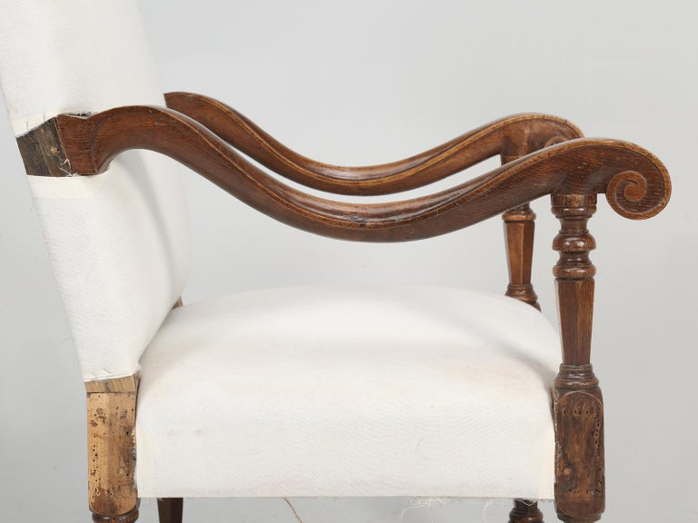 Antique French Louis XIII Style Armchair For Sale 1