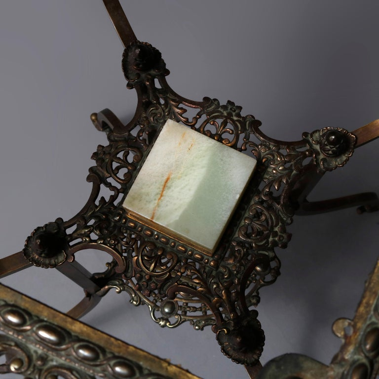 Antique French Louis XIV Bronze and Onyx Plant Stand, circa 1880 For Sale 2