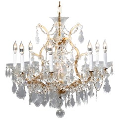 Antique French Louis XIV Crystal Chandelier, 20th Century
