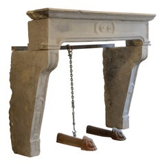 Antique French Louis XIV Fireplace Mantel, 18th Century