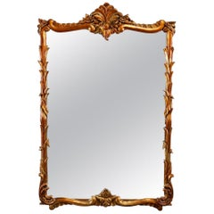 Antique French Louis XIV Gilt Wall Mirror, 20th Century
