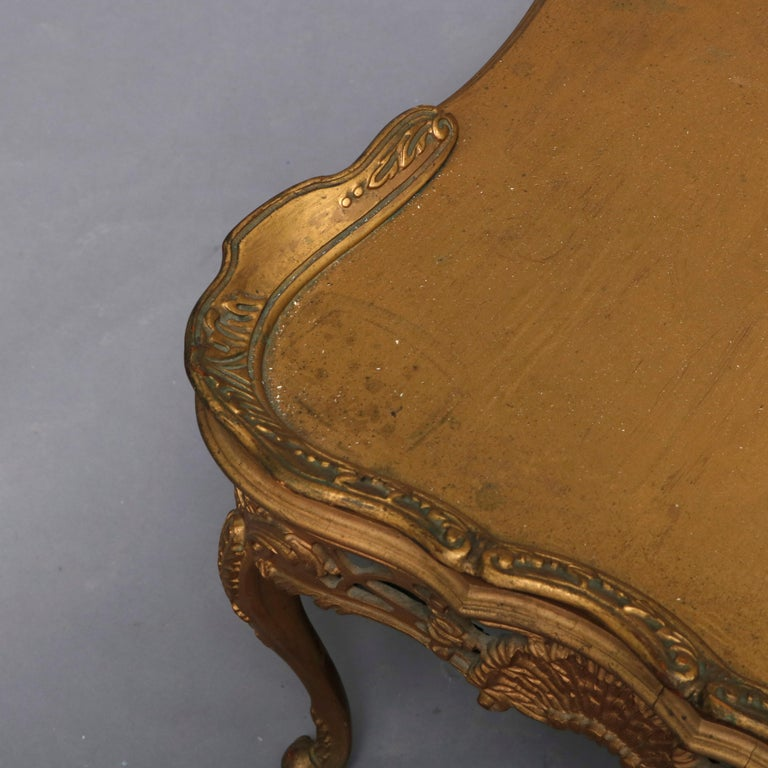 Antique French Louis XIV Giltwood Tea Table, 20th Century For Sale 7
