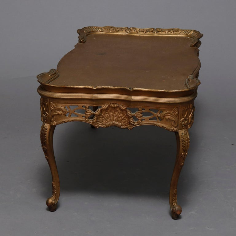 Antique French Louis XIV Giltwood Tea Table, 20th Century For Sale 1