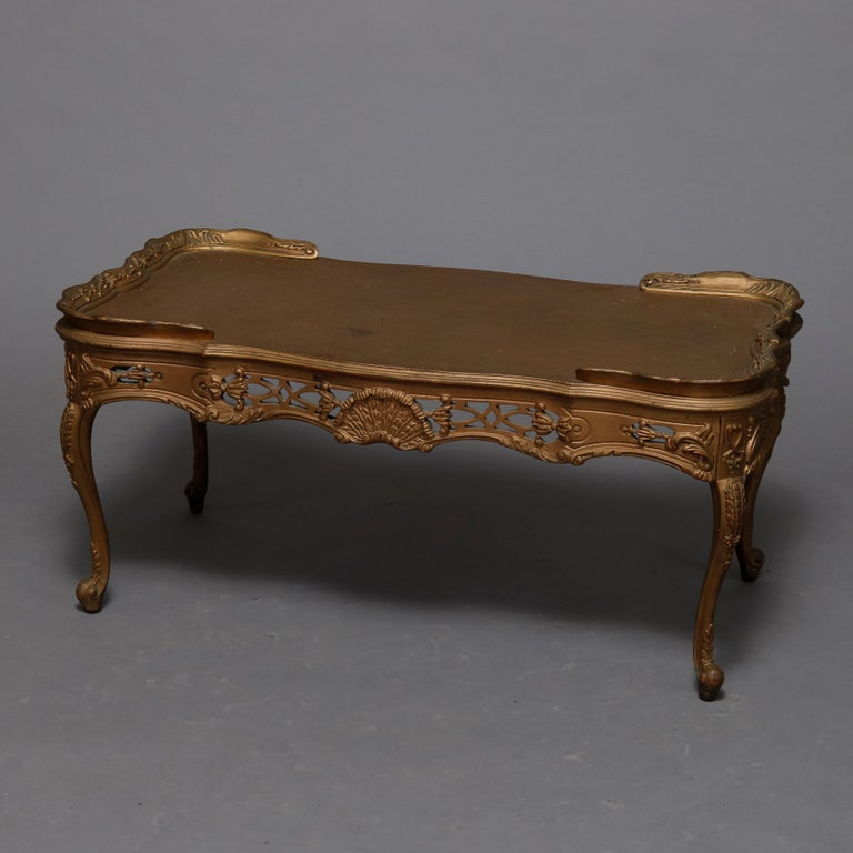 Antique French Louis XIV Giltwood Tea Table, 20th Century For Sale 2