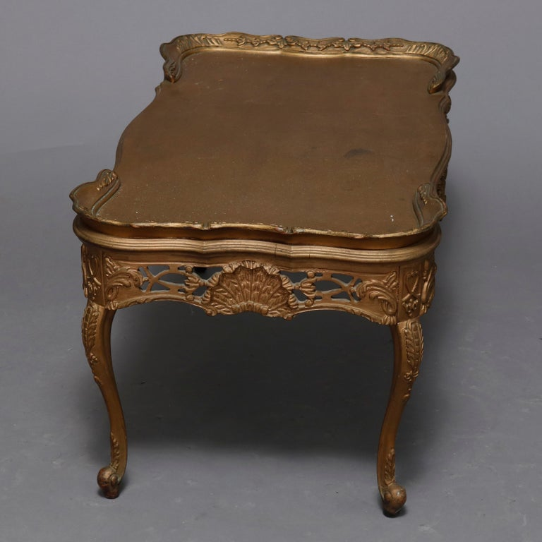 Antique French Louis XIV Giltwood Tea Table, 20th Century For Sale 3