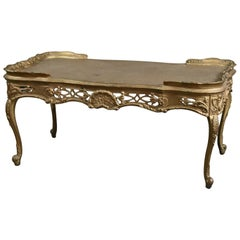 Antique French Louis XIV Giltwood Tea Table, 20th Century