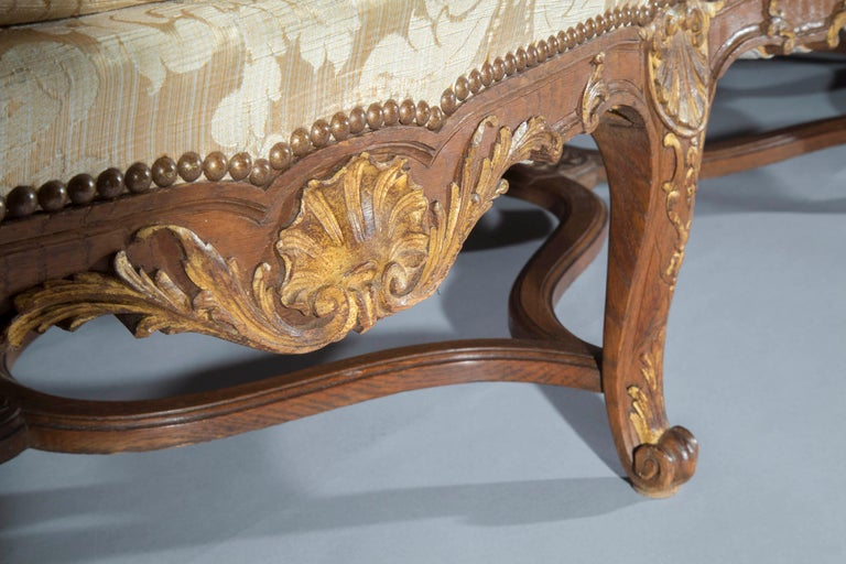 Carved Antique French Louis XIV Style Sofa or Settee, 19th century