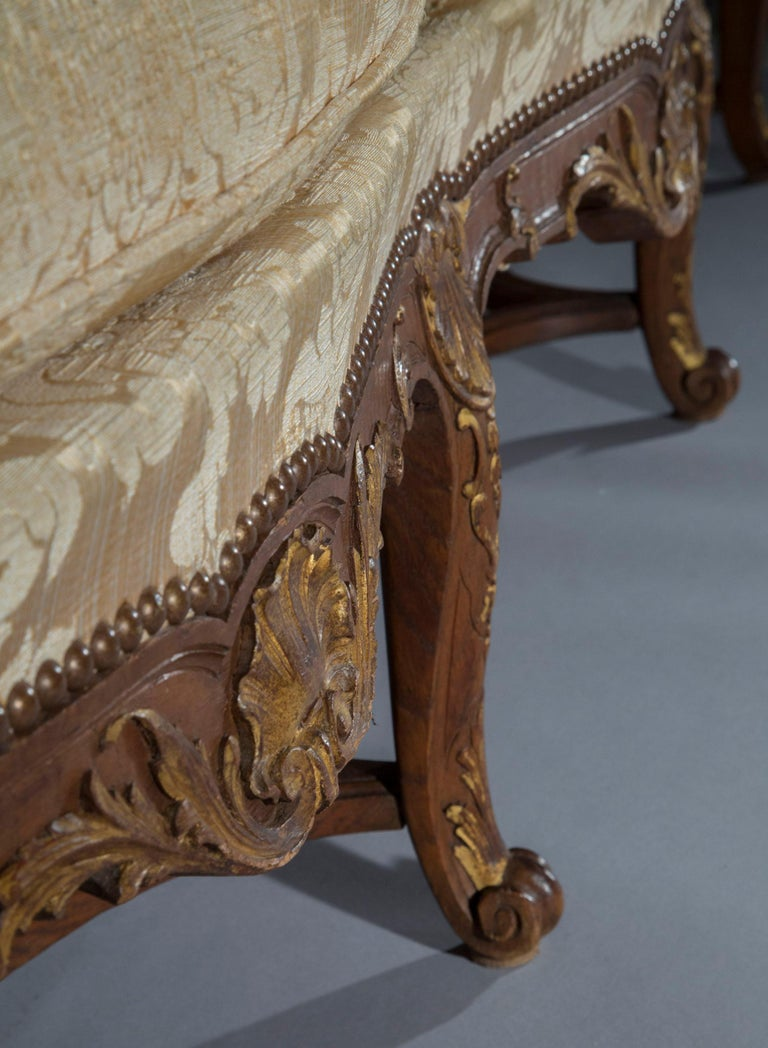 Oak Antique French Louis XIV Style Sofa or Settee, 19th century
