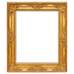 Antique French Louis XV Carved and Gilt Frame