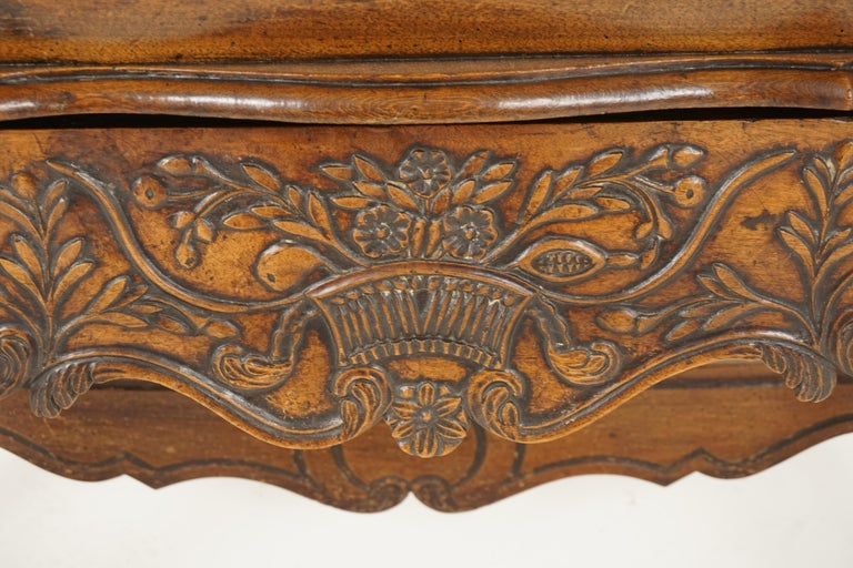 Hand-Crafted Antique French Louis XV Carved Walnut Dough Box, France, 1880, B2503 For Sale