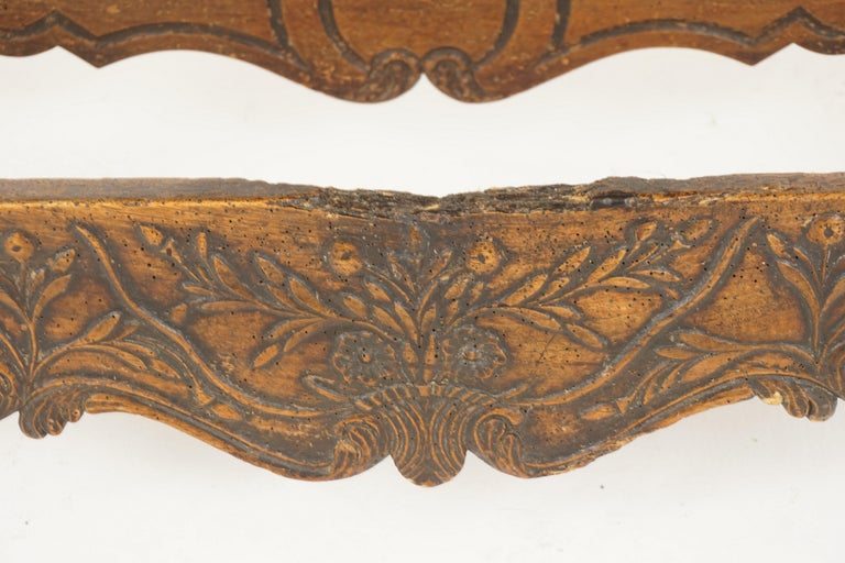 Antique French Louis XV Carved Walnut Dough Box, France, 1880, B2503 In Good Condition For Sale In Vancouver, BC