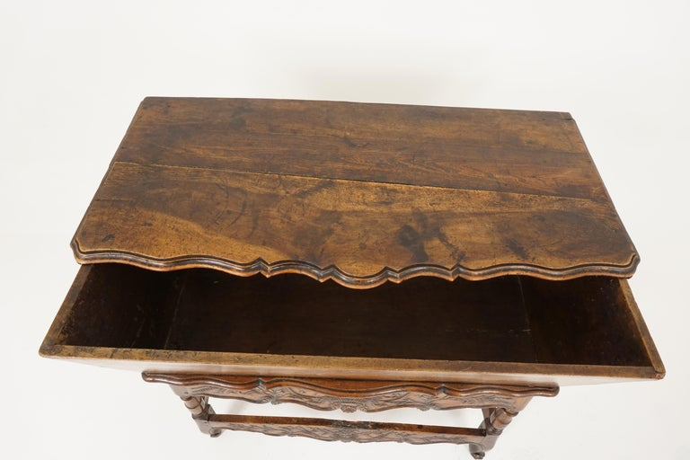 Late 19th Century Antique French Louis XV Carved Walnut Dough Box, France, 1880, B2503 For Sale