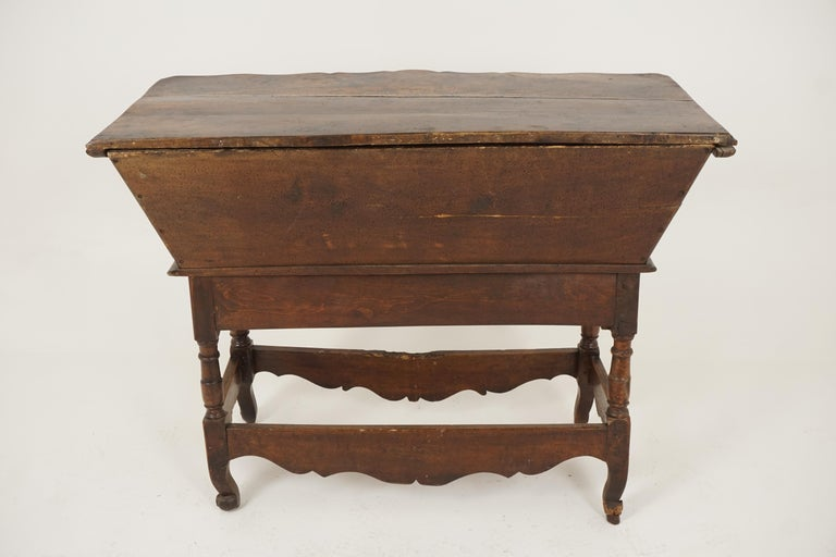 Antique French Louis XV Carved Walnut Dough Box, France, 1880, B2503 For Sale 4