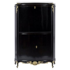 Antique French Louis XV Ebonized Secretaire