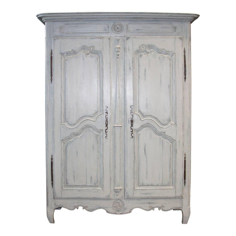Antique French Louis XV Period Armoire Cupboard Patina